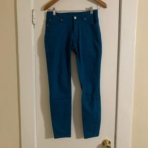 Walter Blue Colored Skinny Jeans Size 25